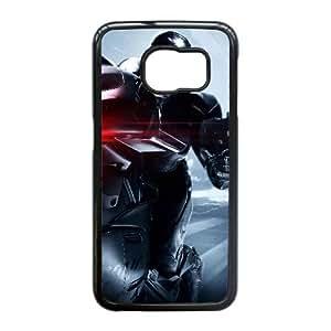 Robocop 2014 Movimiento motocicleta 99773 Samsung Galaxy S6 Edge caja del teléfono celular funda Negro caja del teléfono celular Funda Cubierta EEECBCAAL77792