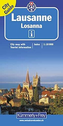 Lausanne 1 : 10 000. City Guide: City map with Tourist Information (Kümmerly+Frey City Maps)