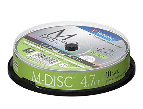 1000 Years Archival Verbatim M-Disc DVD-R Inkjet Printable |