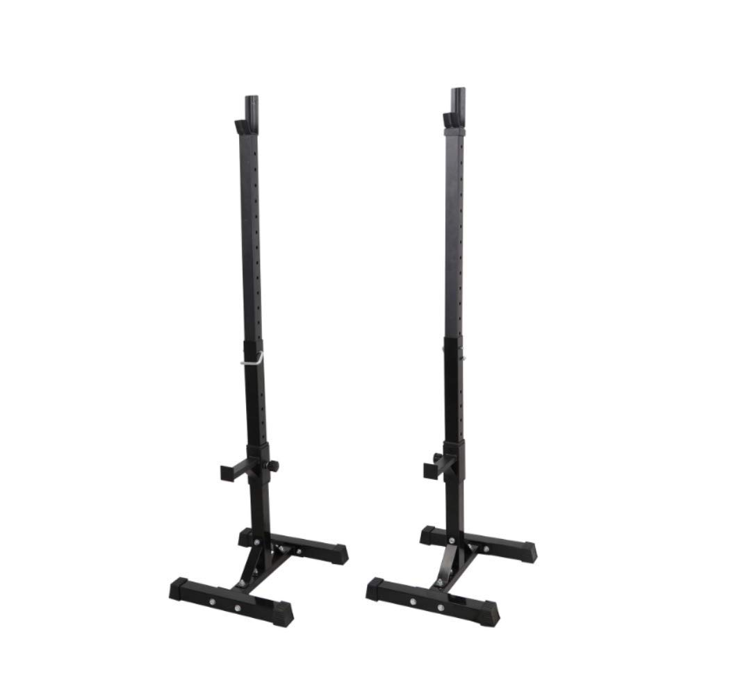 X-Treat Free-Weight Racks Bodybuilding, Fitness, Gym Weight Bar Stand Adjustable Rack Standard Sturdy Steel Squat Stands Bench Press Stand Barbell Racks Holder Home Gym Fitness Exercise Equipment. x2