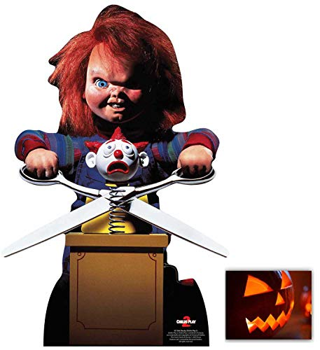 Chucky with Jack in The Box from Child's Play Official Lifesize Cardboard Cutout/Standup Fan Pack, 74cm x 50cm Includes 8x10 Photo ()