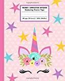 Primary Composition Notebook Handwriting Practice Paper: Adorable Boho Flowers Unicorn with Blank Writing Sheets for…
