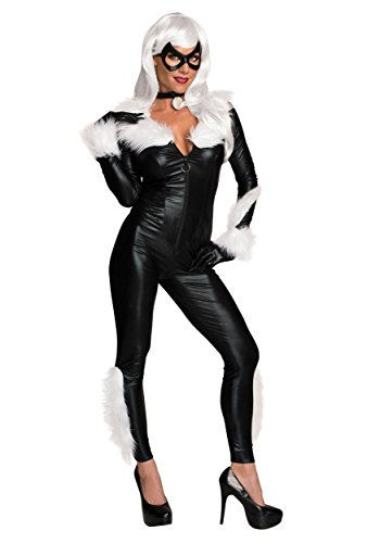 Old Woman Cat Costume (Secret Wishes Women's Marvel Universe Black Cat Costume, Black, Small)