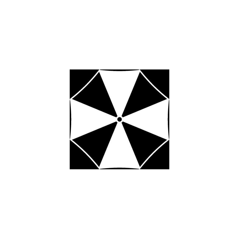 UMBRELLA CORP LOGO   5 WHITE   Vinyl Decal Sticker   NOTEBOOK, LAPTOP
