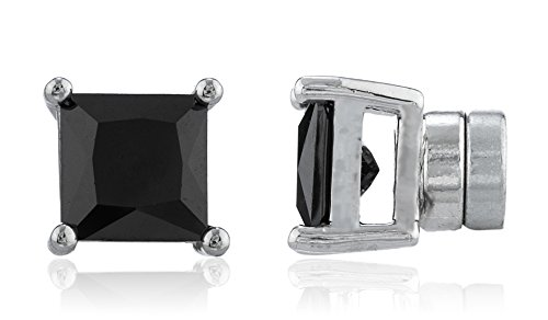 new-improved-silvertone-with-black-cz-square-magnetic-stud-earrings-4mm-to-12mm-available-7-millimet