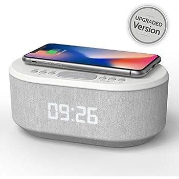 Amazon.com: Homtime - Reloj despertador inalámbrico con ...