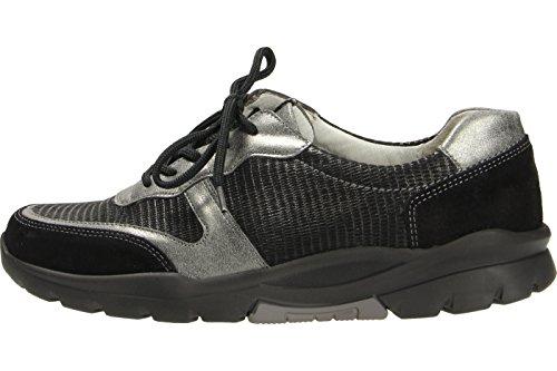 Waldläufer Vrouwen Hiroko Sneakers, T300 564 ° Zwart / Asp