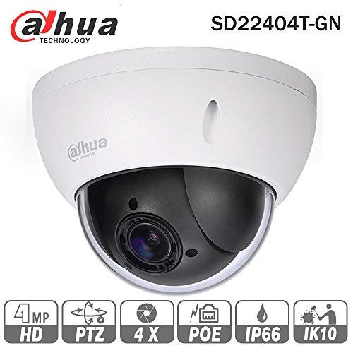 Dahua 4MP PTZ Camera SD22404T-GN 2.7-11mm IP PoE Varifocal 4X Optical Zoom Indoor Network Dome Camera Onvif IP66 English Version