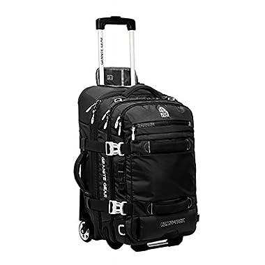 Granite Gear Cross-Trek 22  Wheeled Carry-On Duffel - Black/Chromium