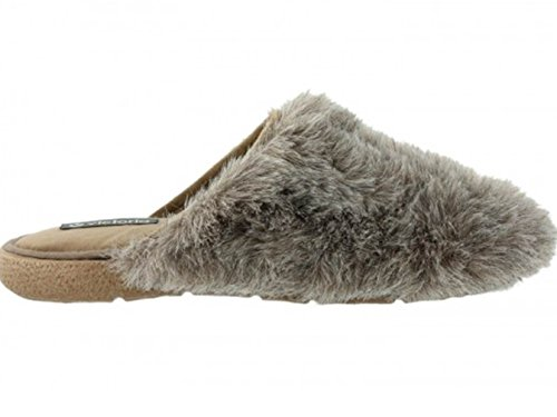 Victoria 071102 - Zapatillas de estar Por casa Mujer Pelo Beige (35) Ie4IvOlgLe