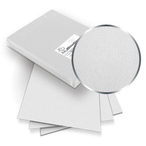 (White Grain 8.75 x 11.25 Oversize Binding Covers - 100pk MyBinding MYGR8.75X11.25WH White)