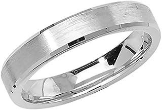 Bague de Mariage/Alliance Homme/Femme 4mm Ruben Chanfreiné Argent Fin WJS14919
