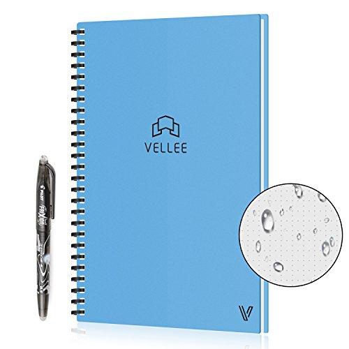 Reusable Smart Erasable Notebook, Heat Wet Erase, Waterproof, Wirebound Notebook, Spiral Notebook, Wide Ruled Paper, Dot Grid Paper, Blank Paper, Erasable Pen, Cloud Storage, 60 Pages, B5, Blue