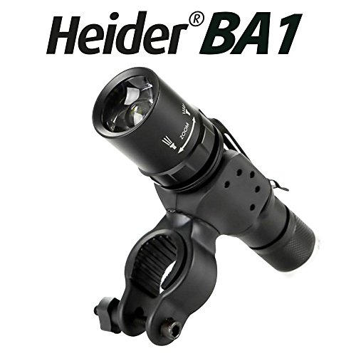 3b84ebdb9b6 Heider BA1 Universal Bicycle Bike Flashlight, Torch, Lamp Mount - Clamp  Stand Holder -