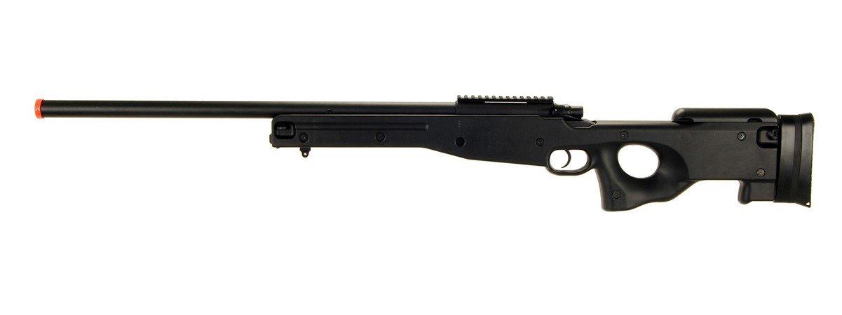 AGM L96 Bolt Action Spring Sniper Airsoft Rifle Gun FPS 465 (Black)