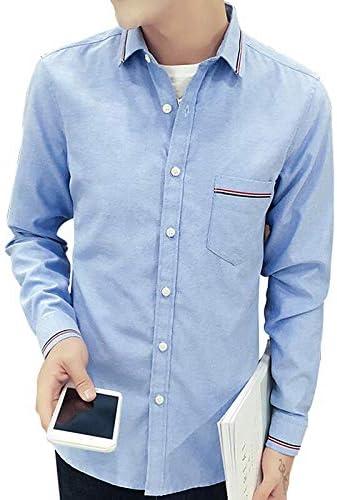 Solid Colored Shirt Collar IYFBXl Mens Asian Size Slim Shirt