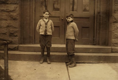 1910 child labor photo School #2, Buffalo, N.Y. Vincent Cannici, 13 years old f5