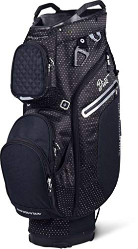 Reverse Cart Bag - Sun Mountain 2019 Womens Diva Cart Bag Black/White