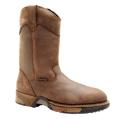 Rocky Wellington Mens (Rocky Aztec Waterproof Wellington Work Boot)