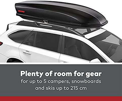 Amazon Com Yakima Skybox Aerodynamic Rooftop Cargo Space For Cars Wagons And Suvs 12 Adds 12 Cubic Ft Of Storage Carbonite Sports Outdoors