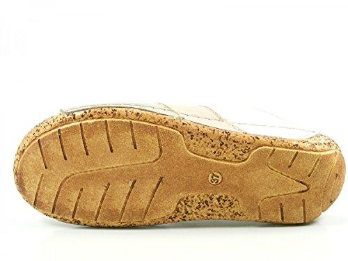 Gemini 32004-02 Schuhe Damen Sandalen Pantoletten Clogs Beige