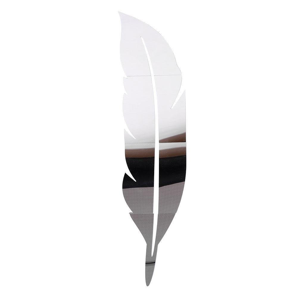 SOLEDI Wall Stickers DIY 3D Feather Mirror Wall Vinyl Decal Sticker Art Home Mural Decor(Large)