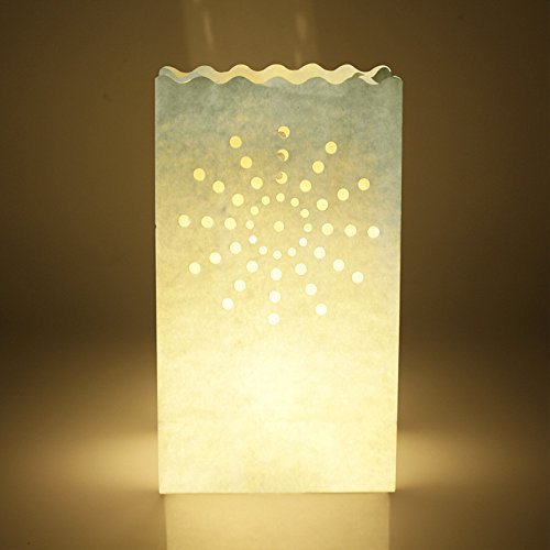 F2C 50PCS Wedding Heart Tea Light Holder Luminaria Paper Lantern Candle Bag Home Valentines Day Gifts Party Decoration by F2C