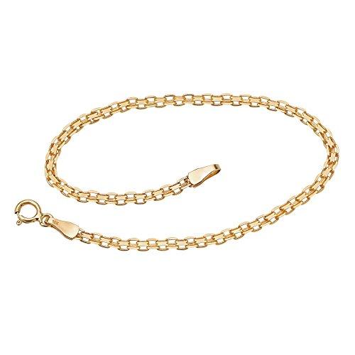 10k Yellow Gold Bismark-Link Bracelet 7.25