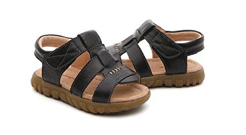 ALUK- Zapatos de los niños - los niños de verano transpirable playa calza los zapatos casuales del bebé ( Color : Marrón , Tamaño : 29 ) Negro