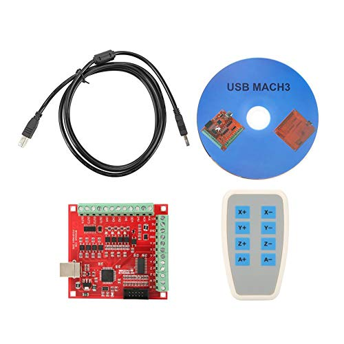 - USB CNC Controller Card DC 24V MACH3 100Khz Motion Controller Card Breakout Board Support for 4 Axis Linkage