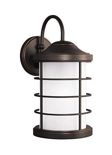 Sea Gull Lighting 8624451EN3-71 Large One Light Outdoor Wall Lantern Antique Bronze