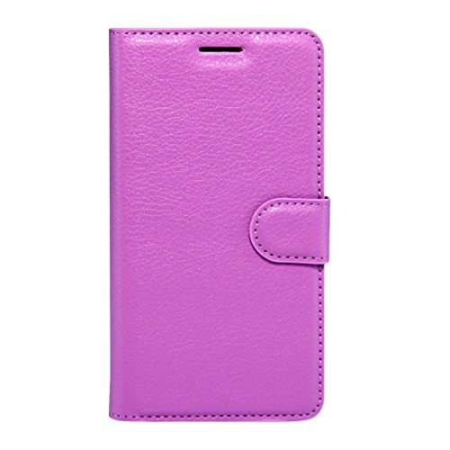 (Jiangym Mobile Phone Leather Cases for Galaxy C9 Pro / C900 Litchi Texture Horizontal Flip Leather Case with Magnetic Buckle & Holder & Card Slots & Wallet (Black) Leather Cases (Color : Purple))