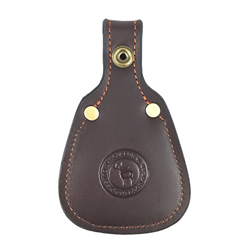 - TOURBON Hunting Gun Barrel Rest Toe Protector Pad Leather - Brown