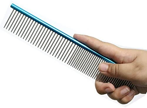 Stainless Steel Straight Comb for Cavapoo,Collie,Poodle,Havanese,Yorkie,Shih Tzu,Goldendoodle,Purebred Maine Coon Comb Silver Metal Comb for Long Hair Cat Persian Cat BPS Color Steel Comb 7-1//2 Inch Cheap Dog Comb