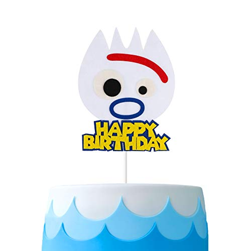 MALLMALL6 Toy 4th Forky Cake Topper Forky Toys cakes Decorations Toy 4th Theme Birthday Party Supplies Party Favors Friend of Woody Buzz Lightyear Bo Peep Party Decorations for Kids Boys Girls