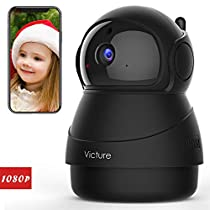Victure 1080P FHD WiFi IP Camera Indoor Wireless Security Camera Motion Detection Night Vision Home Surveillance