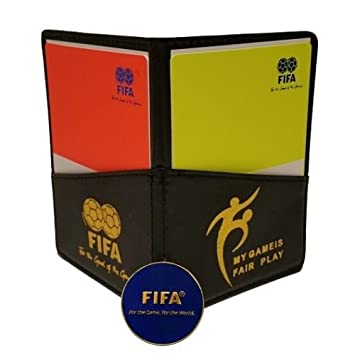 75934eaf9af Football Soccer Referee Wallet with Red and Yellow Card + Game Coin ...