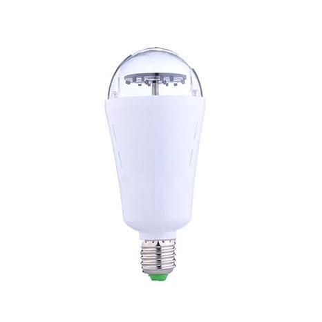 ledholyt Mini Auto Rotación Luz Bombilla LED 4 W E27 Luz de la etapa Moving copo