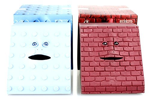 - 2 Pack - Face Bank Munching Money Box - Ideal Novelty Gift by Takada Collection