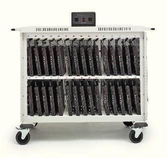 20-Compartment Laptop Storage and Charging Cart