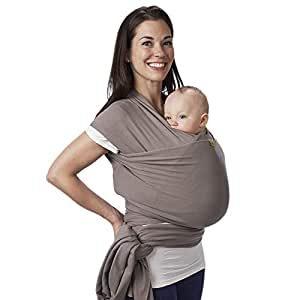 Boba Wrap Baby Carrier, Grey - Original Stretchy Infant Sling, Perfect for Newborn Babies and Children up to 35 lbs