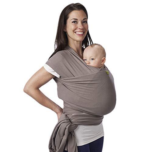 Boba Baby Wrap Carrier – De originele baby en pasgeboren Sling, perfect voor baby's en baby's tot 15 kg (Grey)