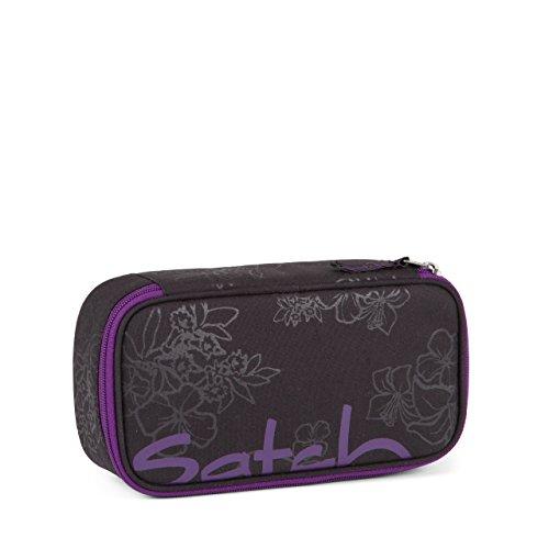 Satch by Ergobag Purple Hibiscus Pack 3er Set Schulrucksack + Schlamperbox + Regenhaube Lila