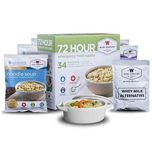 Wise Company, Emergency Freeze-Dried Food and Drink Supply, 72 Hour Variety, 32 Servings - Disaster Preparedness