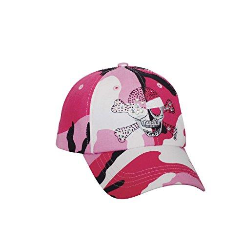 (Women's Low Profile (Str) Fashion Cap W/ Fiber Optic Lights-6857-PINK.CAMO)