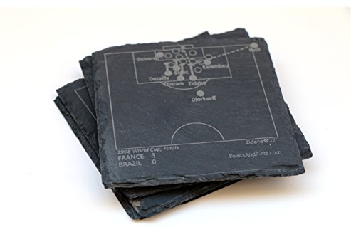 France 1998 World Cup - Slate Coasters (Set of 4)