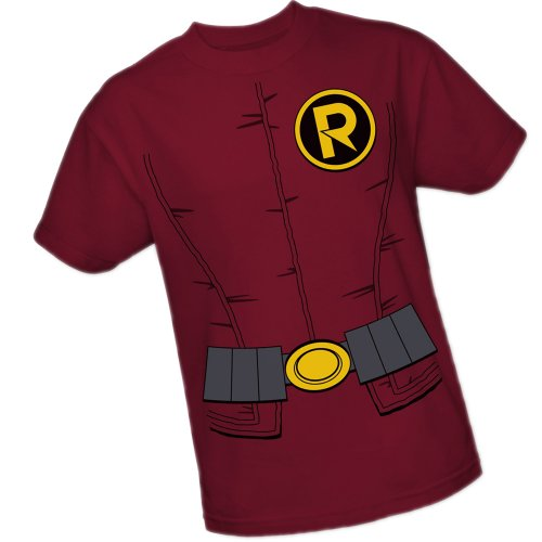 DC Comics Robin Costume The New 52 Adult T-Shirt, XXX-Large Red