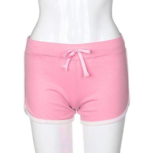 Yoga Rosa estivi donna Hot elastici Pants pantaloncini Amlaiworld Sport Pantaloni nAfCg