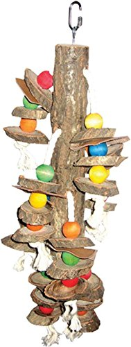 """A&E CAGE COMPANY HB111 Happy Beaks Wood Hanging Cylinders Assorted Bird Toy, 5 by 20"""""""