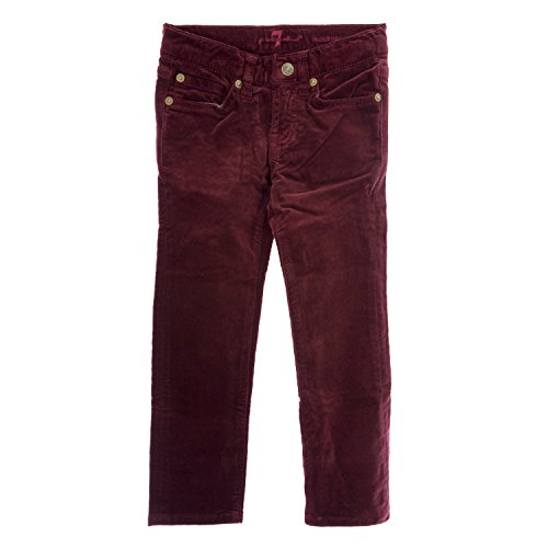 7 for All Mankind Girls Roxanne Corduroy Skinny Jeans 7FCXG320, 6X TAPT Burgundy 7 For All Mankind Corduroys